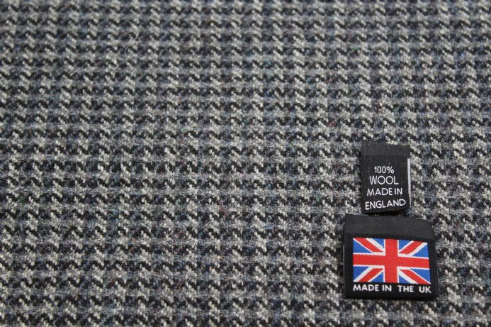 100% Pure New Wool Dogtooth Tweed Fabric BZ41
